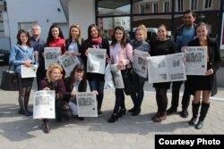 Studenți la Şcoala de Studii Avansate în Jurnalism din Chișinău