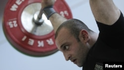 Georgian Olympic weightlifter Gia Machavariani