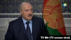 Аляксандар Лукашэнка ў эфіры каналу «Мир»