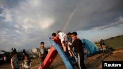 Uşaqlar Idomeni düşərgəsində, 22 may, 2016-cı il