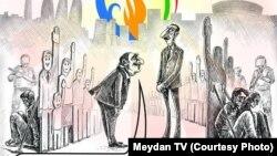 Avropa Oyunları haqda karikatura (Meydan TV)