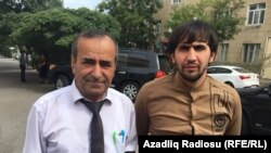 Nemət Heydərli (sağda) və vəkili Nazim Musayev