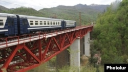 Armenia - A railway bridge in northern Lori region.