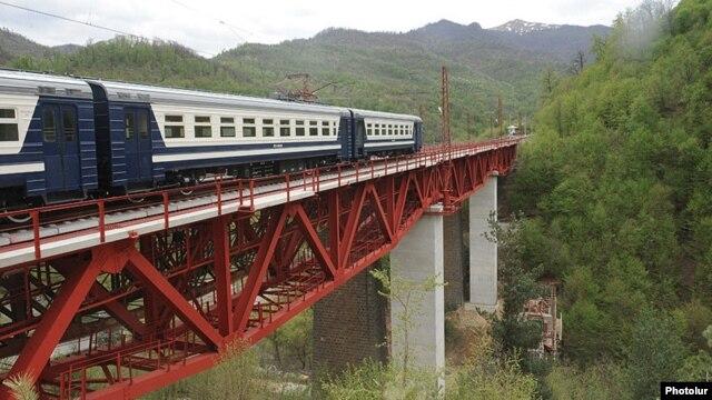 Armenia - A railway bridge in northern Lori region.