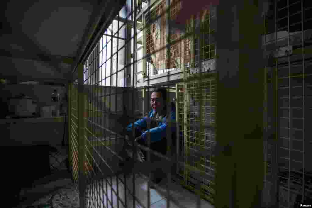 "A Hong Kong ""cage"" home, which rents for $230 per month"