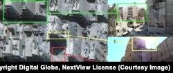 Спутниковые кадры района Алеппо, по которому нанесли авиаудары, по данным Bellingcat