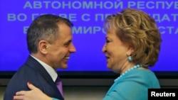 Уладзімір Канстанцінаў і Валянціна Матвіенка