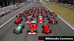 Formula 1 yarışı (Foto arxivdəndir)