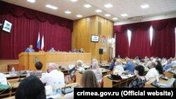 Сессия российского парламента Крыма в здании Симферопольского горсовета 28 июня 2021 года
