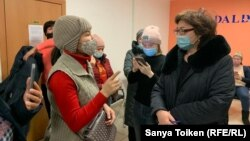 Женщины, требующие пересмотра Кодекса о здоровье. Нур-Султан, 2 декабря 2020 года.