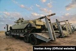 نمایی از تجهیزات به کار رفته در رزمایش فاتحان خیبر در شمالغرب ایران