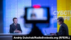 Тарас Кремінь у студії Радіо Свобода