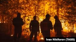 Лесной пожар в Якутии. 2021 год.