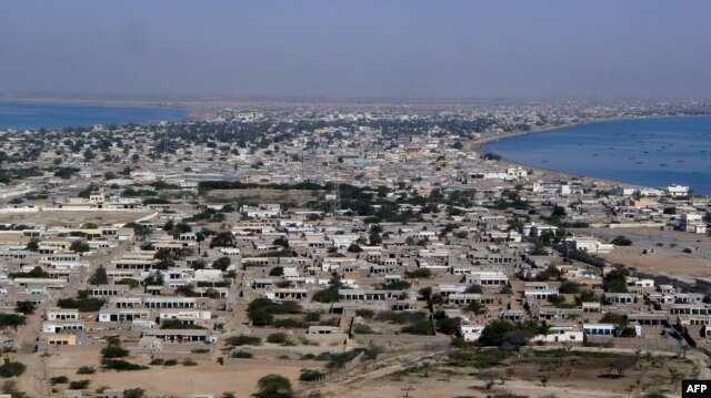 The residential area of Gwadar port in the Arabian Sea