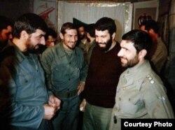 فرماندهان وقت جنگ؛ علی صیاد شیرازی (راست)، یحیی رحیم صفوی (دوم از چپ) و محسن رضایی (چپ)
