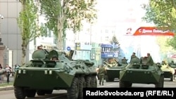 Репетиція параду військової техніки, який має відбутися 9 травня у Донецьку