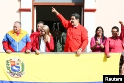 Нікаляс Мадура на мітынгу сваіх прыхільнікаў, 23 студзеня, Каракас