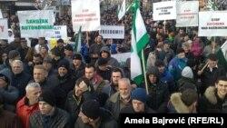 """Protest """"Pravda za Sandžak"""", Novi Pazar"""