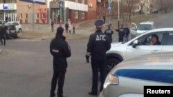Полиция на улице в Хабаровске.