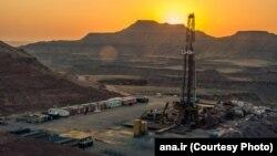An oil well on Iran's Azadegan oil field