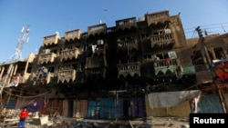 Наслідки вибухів, що сталися у вихідні в Багдаді