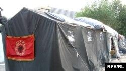Tendat e grevistëve të UÇK-së...