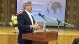 "Tatarstan -- Vasil Shaikhraziev, deputy prime minister of Tatarstan at the Public discussion of ""Tatar strategy"" in Arsk district, 16jan2019"
