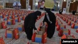 İmam Khomeini-nin məqbərəsində ərzaq paketləri düzülür