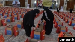 Food packages at the shrine of the founder of the Islamic republic, Ayatollah Ruhollah Khomeini.