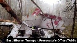 Остатки самолета L-410 на месте происшествия в Иркутской области, Россия, 13 сентября 2021 года