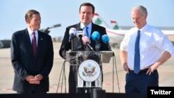 Senators Richard Blumenthal (left), Chris Murphy (center), and Chris Van Hollen in Lebanon.
