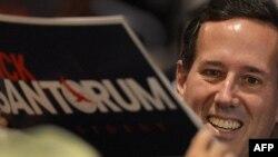 Rick Santorum în timpul campaniei sale pentru alegerile primare