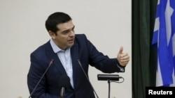 Премьер-министр Греции Алексис Ципрас. Москва, 9 апреля 2015 года.