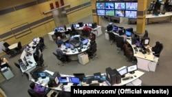 IRAN -- Reporters of Hispan TV work in the newsroom