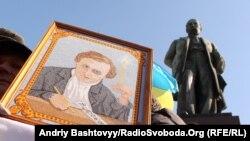 Мітинг до дня народження Тараса Шевченка у Києві, березень 2012 року