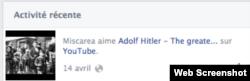 Una din paginile Facebook ale Mișcării Legionare din România