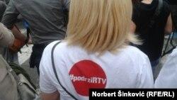 Sa jednog od protesta 'Podrži RTV'