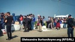 КПВВ «Чонгар» на админгранице с Крымом, иллюстрационное фото