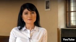 Nela Liskova a member of the far-right Czech moverment National Militia