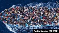 Miqrantları Avropaya qanunsuz daşıyan gəmi