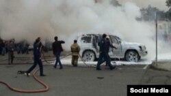 Abkhazia -- Almas Dzhapua car exploded