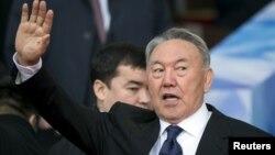 Президент Казахстана Нурсултан Назарбаев. Алматы, 18 апреля 2015 года.