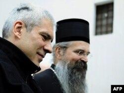 Episkop Teodosije i predsednik Srbije Boris Tadić, 2010.