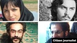 گزارشها حاکی از آزادی لیلا حسینزاده در روز سهشنبه است. تصویر سه دانشجوی بازداشتی. بالا: سهیل آقازاده. پایین از سمت چپ: سینا درویش و احسان محمدی