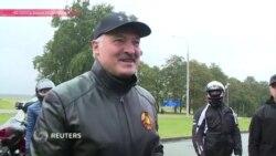 Лукашенко на Харлее: президент Беларуси проехал по Минску на мотоцикле