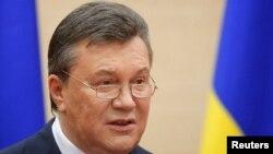 Ուկրաինայի պաշտոնանկ արված նախագահ Վիկտոր Յանուկովիչ, մարտ, 2014թ․