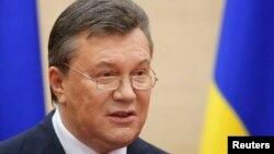 Отстраненный президент Украины Виктор Янукович