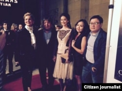 На презентации фильма «Курманжан Датка» в Лос-Анджелесе. 5 ноября 2014 года.