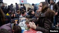 Раненые сторонники нового правительства Украины после столкновений с пророссийскими активистами. Харьков, 1 марта 2014 года.