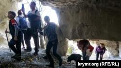 Переход в пещерах Тепе-Кермена